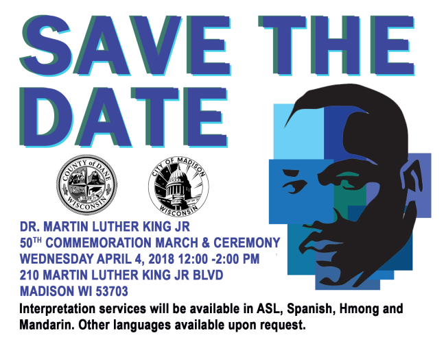 Upcoming event to commemorate Dr. Martin Luther King Jr. hosted by the City of Madison