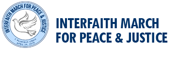 Interfaith March for Peace and Justice this Sunday, April 29th!